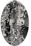 rug #1316495   oval white abstract rug