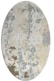 rug #1316511 | oval white abstract rug