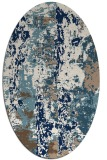 rug #1316515 | oval white abstract rug