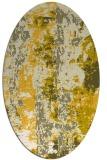 rug #1316523   oval yellow abstract rug