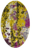 rug #1316531 | oval white abstract rug