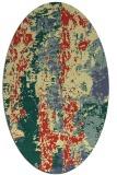 rug #1316539 | oval yellow rug