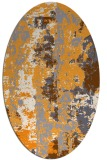 rug #1316567 | oval light-orange abstract rug