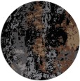 rug #1316947 | round black abstract rug