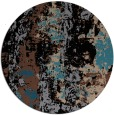 rug #1316955 | round black rug