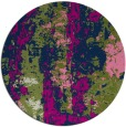 rug #1316983 | round green abstract rug