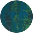 rug #1317003 | round blue-green abstract rug