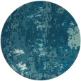 rug #1317007   round blue-green abstract rug