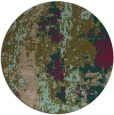 rug #1317051 | round brown abstract rug