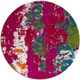 rug #1317055 | round red abstract rug
