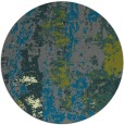 rug #1317071 | round green abstract rug
