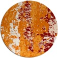 rug #1317155 | round orange abstract rug