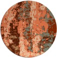rug #1317163 | round red-orange abstract rug