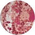 rug #1317179 | round pink abstract rug