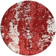 rug #1317207 | round red abstract rug