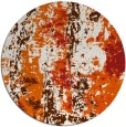 rug #1317227   round red-orange abstract rug