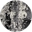 rug #1317231 | round black abstract rug