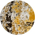 rug #1317243 | round brown abstract rug
