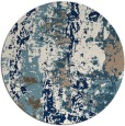 rug #1317251 | round white abstract rug