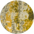 rug #1317259 | round yellow abstract rug