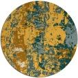 rug #1317271 | round light-orange abstract rug