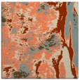 rug #1317895 | square orange abstract rug