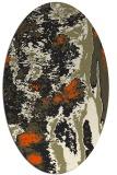 rug #1318067   oval black abstract rug