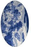 rug #1318091 | oval blue rug