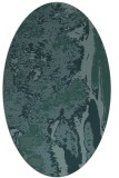 rug #1318115 | oval blue-green abstract rug