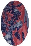 rug #1318135 | oval abstract rug