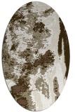 rug #1318207 | oval white abstract rug
