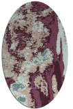 rug #1318211 | oval pink popular rug