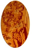 rug #1318255 | oval red-orange abstract rug