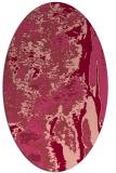 rug #1318279   oval pink abstract rug