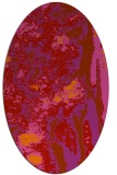 rug #1318315 | oval red abstract rug