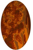 rug #1318319 | oval red-orange abstract rug