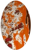 rug #1318331 | oval red-orange abstract rug