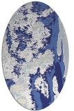 rug #1318343   oval white abstract rug