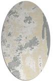 rug #1318351   oval white abstract rug