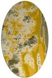 rug #1318363   oval yellow abstract rug