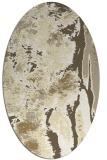 rug #1318367 | oval white abstract rug