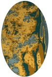 rug #1318375 | oval light-orange abstract rug