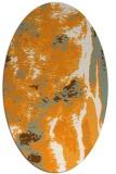 rug #1318403   oval light-orange abstract rug
