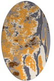 rug #1318407 | oval light-orange abstract rug