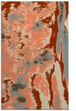 rug #1318631 |  orange abstract rug
