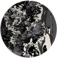rug #1318783 | round black abstract rug