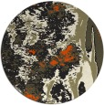 rug #1318803 | round black abstract rug
