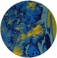 rug #1318811 | round blue abstract rug