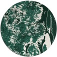 rug #1318915 | round green abstract rug