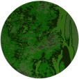 rug #1318987 | round green abstract rug